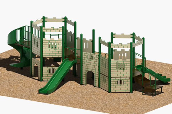 Castle Jr.- 3.5 O.D. Post Playgrounds