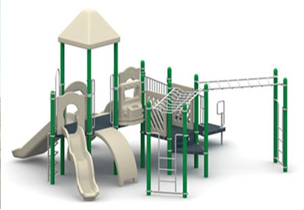 "Funplay STR-50401-G - 5"" O.D. Post Playgrounds"