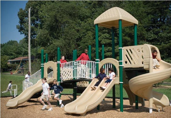 "Funplay STR-50402-G - 5"" O.D. Post Playgrounds"