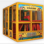 Tot Town Contained Play School Bus - 902-796