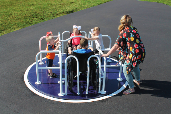 8' Wheelchair Accessible Merry Go Round