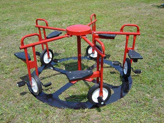 Merry Go Rounds Playground Equipment For Commercial