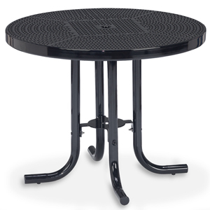 D1150 36 Inches Round Table Perforated Metal