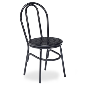 D1153 Chair, Plain Back Perforated Metal