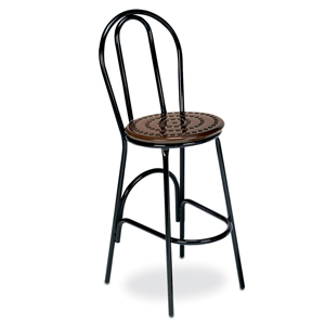 D1156 Bar Stool, Plain Back Perforated Metal