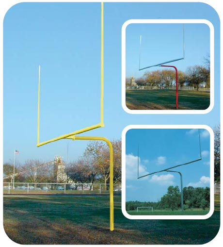 561-445 - Single Post Pitch Fork Football Goal Galvanized