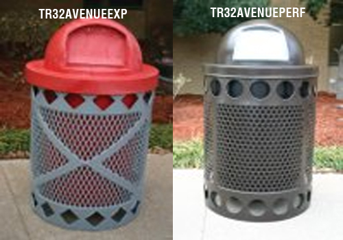Avenue Style Trash Receptacles