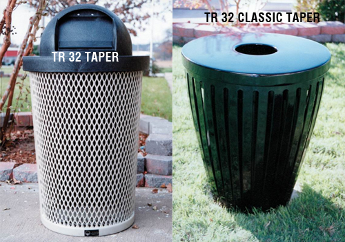 Taper Style Trash Receptacles