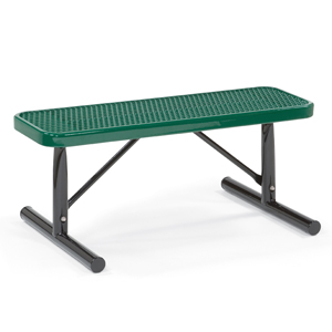 4' Flat Victory Portable Bench with Wide Expanded Seat - F3036