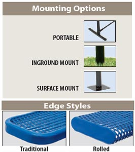 Mounting Options & Edge Styles