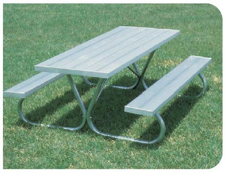 Aluminum Picnic Tables Playground Equipment For Commercial School - Playground picnic table