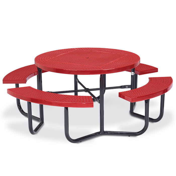 Plastisol Coated Steel (PVC) Rectangular Picnic Tables - Playground ...