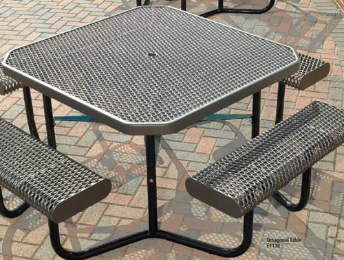 Plastisol coated steel pvc rectangular picnic tables playground f1118 expanded metal watchthetrailerfo