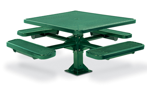 Plastisol Coated Steel Pvc Square Picnic Table