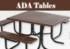 PVC or Plastisol Coated Steel - ADA Picnic Tables