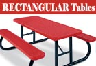 PVC or Plastisol Coated Steel - Rectangular Picnic Tables
