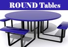 PVC or Plastisol Coated Steel - Round Picnic Tables