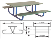 HEAVY DUTY 4' PRESCHOOL TABLE