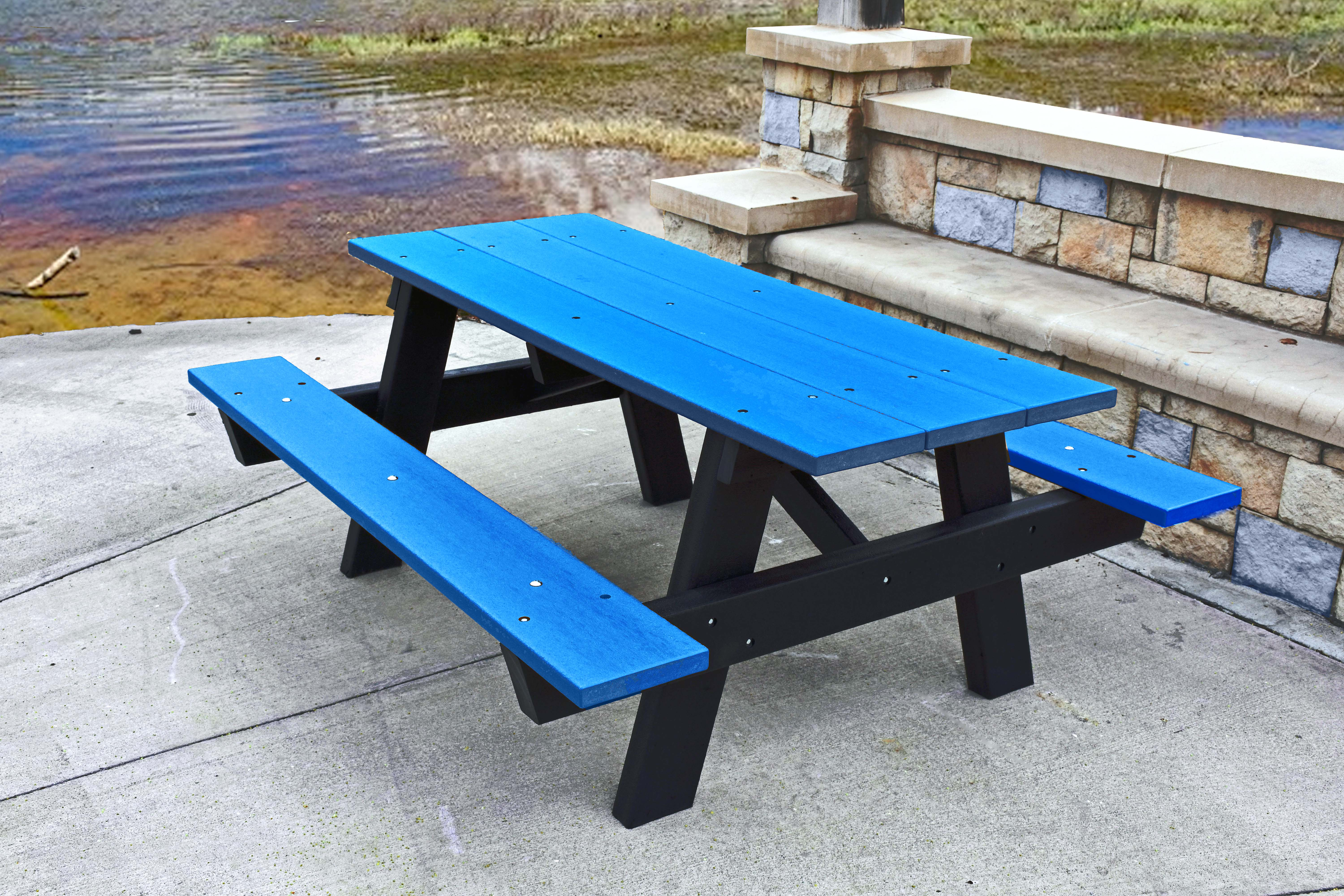 Picnic Tables Playground Equipment For Commercial School - Tubular picnic table frame