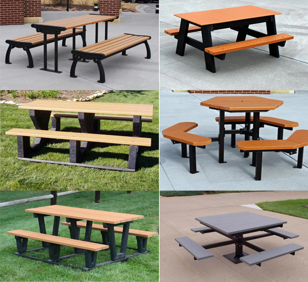 Picnic Tables Playground Equipment For Commercial School - Playground picnic table