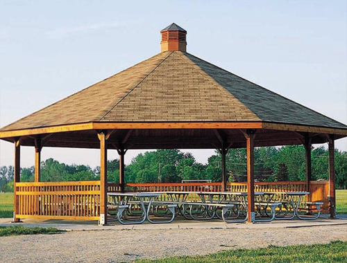 Laminated Wood Structures ~ Shade structures shelters and gazebos shelter structure