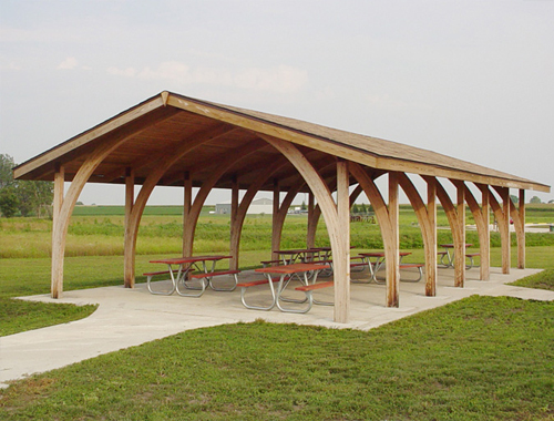Laminated Wood Structures ~ Shade structures shelters and gazebos shelter