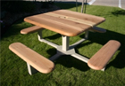 Square Pedestal Picnic Tables