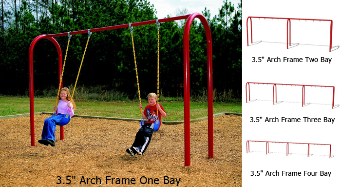 3 5 Od Arch Frame Swing Playground Equipment For Commercial