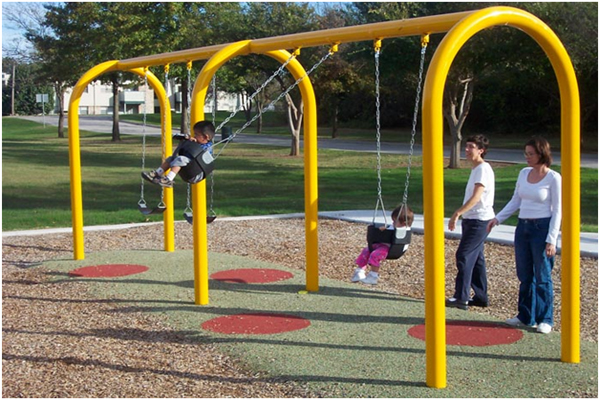 5 Od Arch Post Swing Playground Equipment For Commercial School