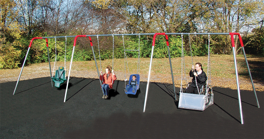 Wheelchair Accessible Swings Playground Equipment For Commercial